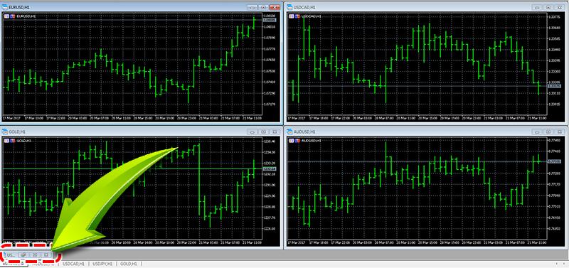 MT4チャート整列画面